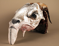 Rat and Ram Skull Mask