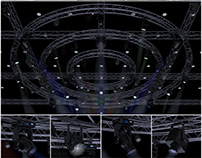 3D Model-TV Studio Stage Truss and Lights.