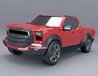 Pickup truck concept 3d model