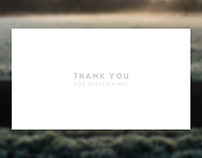 Daily UI #077: Thank You