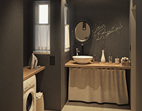 Visualization of the bathroom for an ap.in Budapest
