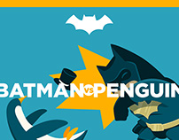 Batman vs Penguin | Animated GIF