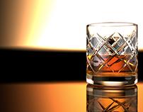3d Whiskey Glass visualisation