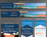 All Inclusive Outlet Banner Ad Designs