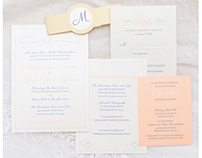 Wedding Invitations & Signage—Calla Lilies & Gold