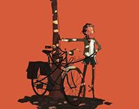La bise au voleur de mon vélo