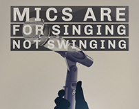 "Brand New (Band) ""Mics Are For Singing"" Poster"