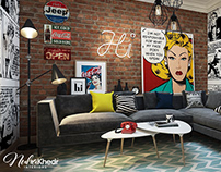 Living room - Pop Art