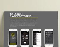 Gold Gym App prototing