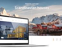 Scandinavian houses. Website concept