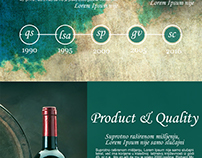 webpage design in VINTAGE theme