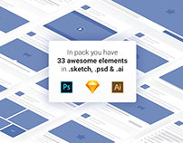 Free Facebook Elements 2018 — Psd, Sketch, Ai