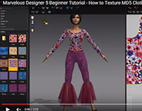 Free Marvelous Designer Tutorial on Texturing Clothes