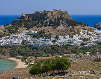 World Heritage Sites in Rhodes and Camera Spot Photo Ga