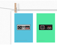 Retro Consoles (1983-1996) Poster Design (For Sale)