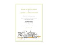 Historic Mansion Wedding Invitation Suite