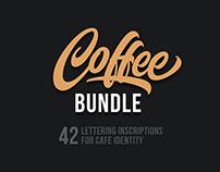Coffee Bundle / 42 Lettering inscriptions