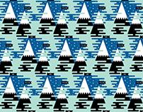 Poler x Stance Snowboard Sock Pattern
