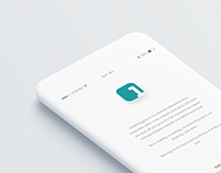 Minimalist Writing App Design
