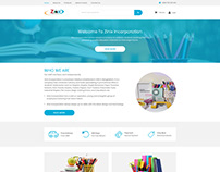 Zinix-inc Website Template(Home Page)