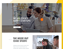 Startups Design Agency Website V-2