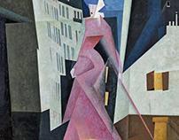 Lyonel Feininger 'Woman in Mauve' ca. 1936.