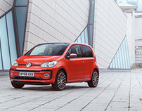 VW UP! revised model photographed for VW UK