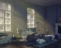 The play of light in the bedroom
