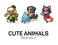 Cute Animals - Spine animations pack vol.2