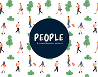 People Vector Free Seamless Pattern