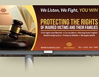 Law Firm Billboard Template