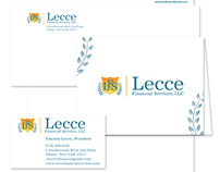 Lecce Financial Services Logo and Stationary Package