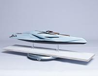 Valkyrie Trimaran Yacht Model