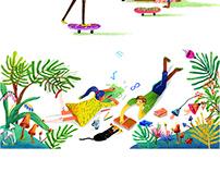 Illustrations into children's educational materials