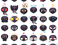 Upi (An Alien) Stickers/ Emoji Set