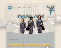 pan am web concept