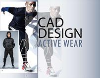 Active wear CAD illustration