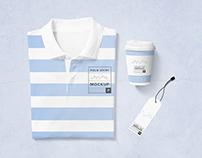 Modern Polo T-Shirt Mockup