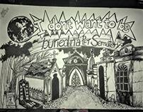 Ilustração em homenagem aos Ramones