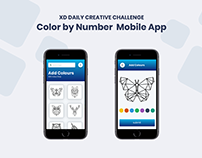 Challenge 04 - Color by Number Mobile#XDdailychallenge