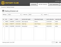 Rotary Club App UI/UX Design