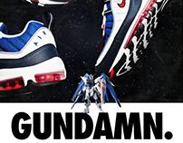 """Sneaker Advertisement - Nike Air Max 98 """"Gundam"""""""