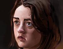 Game of thrones portrait(Arya Stark )