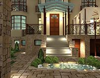 Draft evening lighting mansion