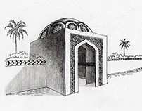 Moroccan Architecture Sketch