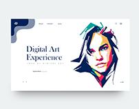 UI Design Idea Exploration (Digital Art Experience)