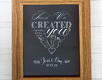 Wedding Congratulations  Hand Lettered