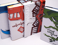 """Survivors"". Series of book covers and slipcase"
