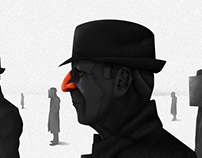 Leonard Cohen/Editorial illustration