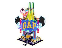 GAP大中华区5周年特别版tee设计